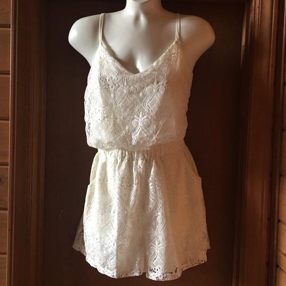 183534a5d73 liberty love Pants - Ivory lace romper